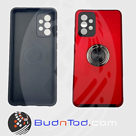 Protective Hybrid Rubber Phone Case For Galaxy Samsung A72 5G (Red)