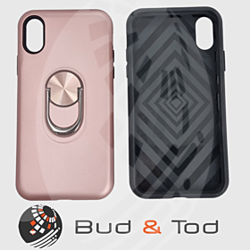 iPhone X Max Shockproof Hard Armour Case in Rose Gold