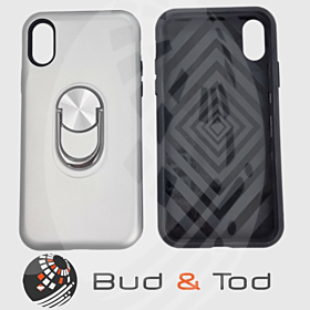 iPhone X Max Shockproof Hard Armour Case in Silver